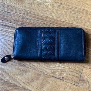 Cole Haan black zip wallet